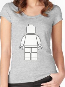 Awesome LEGO minifigure Outline Women's Fitted Scoop T-Shirt