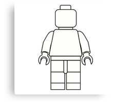 Awesome LEGO minifigure Outline Canvas Print