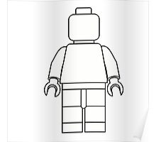 Awesome LEGO minifigure Outline Poster
