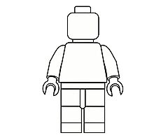 Awesome LEGO minifigure Outline Photographic Print