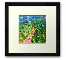 River Valley, by Roger Pickar, Goofy America Framed Print