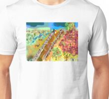 French Countryside, by Roger Pickar, Goofy America Unisex T-Shirt