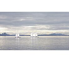 A Winters Sail Photographic Print