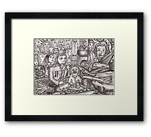 Dreams encroaching on reality Framed Print