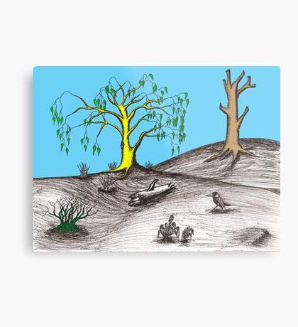 Golden tree succession Metal Print