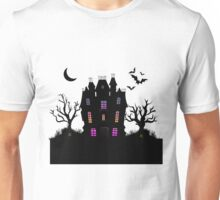Haunted Silhouette Rainbow Mansion Unisex T-Shirt