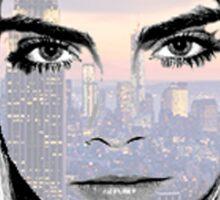 Cara Delevingne NYC Sticker
