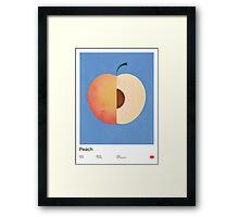 Peach (blue) - Natural History Fruits Framed Print