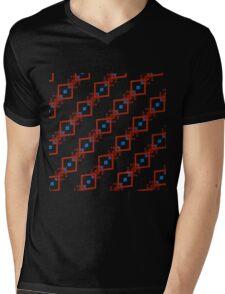 Abstract Diamond design 538C Mens V-Neck T-Shirt