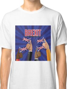 Brexit thumbs up with UK flags Classic T-Shirt
