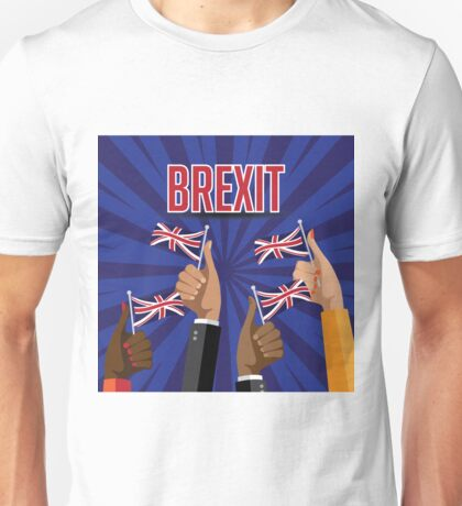 Brexit thumbs up with UK flags Unisex T-Shirt