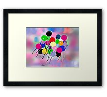 Balloons, by Roger Pickar, Goofy America Framed Print
