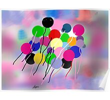 Balloons, by Roger Pickar, Goofy America Poster