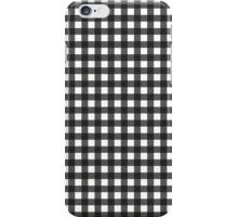 Black Gingham - small iPhone Case/Skin