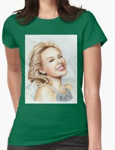 Kylie Minogue - the tiny princess of Pop Womens Fitted T-Shirt