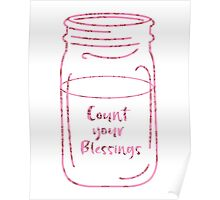Count Your Blessings Mason Jar Poster