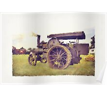Traction Engine Poster
