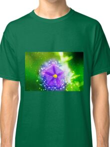 purple garden flower with lush green background  Classic T-Shirt