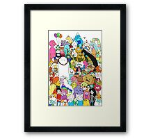 Adventure Time character collage Framed Print