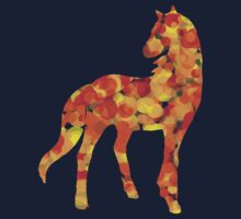 Warm coloured dotted horse One Piece - Short Sleeve