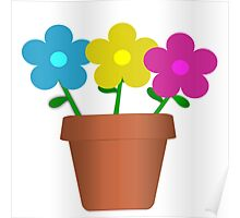 Flowers in Pot Poster