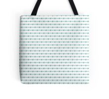 'OFF LIMITS' Tiffany Aqua Blue Barbed Wire Wedding Gift Fence Tote Bag