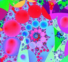 Pink Pearls and in colourful Swirls by walstraasart