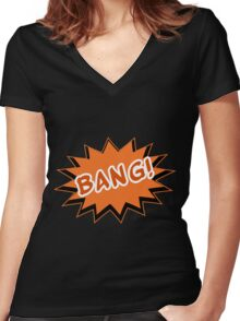 BANG Women's Fitted V-Neck T-Shirt