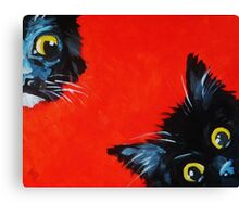 Sneaky Kittens Canvas Print