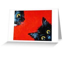 Sneaky Kittens Greeting Card