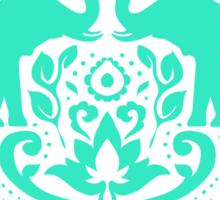 Elephant Damask Mint Sticker