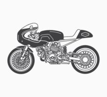 Retro Cafe Racer Bike - Grey by superleggera