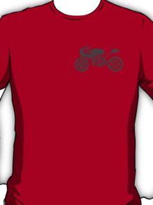 Retro Cafe Racer Bike - Grey T-Shirt