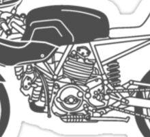 Retro Cafe Racer Bike - Grey Sticker