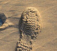 Footprint in the sand  Sticker