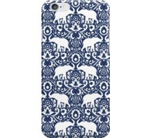 Elephant Damask Indigo iPhone Case/Skin