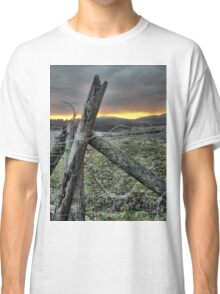 Fence At Sunset Classic T-Shirt