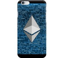 Ethereum logo digital blue iPhone Case/Skin