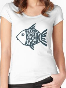 Grunge fish Women's Fitted Scoop T-Shirt