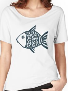 Grunge fish Women's Relaxed Fit T-Shirt