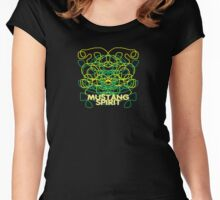 Green and Yellow on Black or White Women's Fitted Scoop T-Shirt