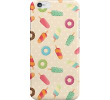 Ice cream and donuts 001 iPhone Case/Skin