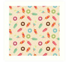 Ice cream and donuts 001 Art Print