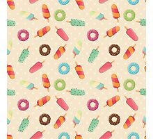 Ice cream and donuts 001 Photographic Print