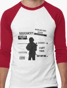 Lui Calibre Quotes Men's Baseball ¾ T-Shirt