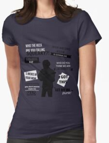 Lui Calibre Quotes Womens Fitted T-Shirt