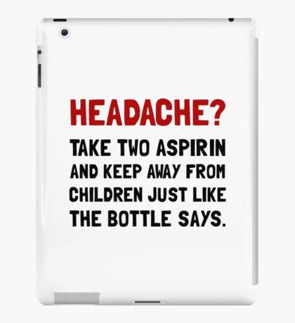 Headache Children iPad Case/Skin