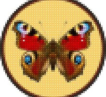 Admiral Butterfly - Cross Stitch style by BagChemistry