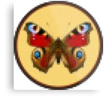 Admiral Butterfly - Cross Stitch style Metal Print
