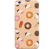 Ice cream and donuts 002 iPhone Case/Skin